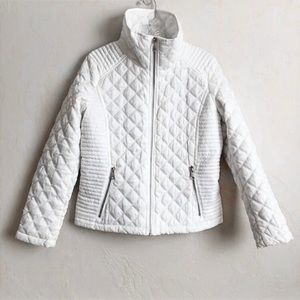 Andrew Marc White Quilted Jacket